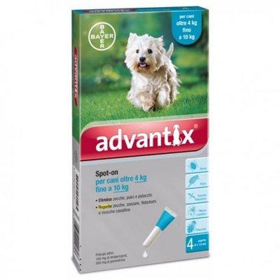 Advantix 100/500 Spot-On Dog 4-10kg 4st